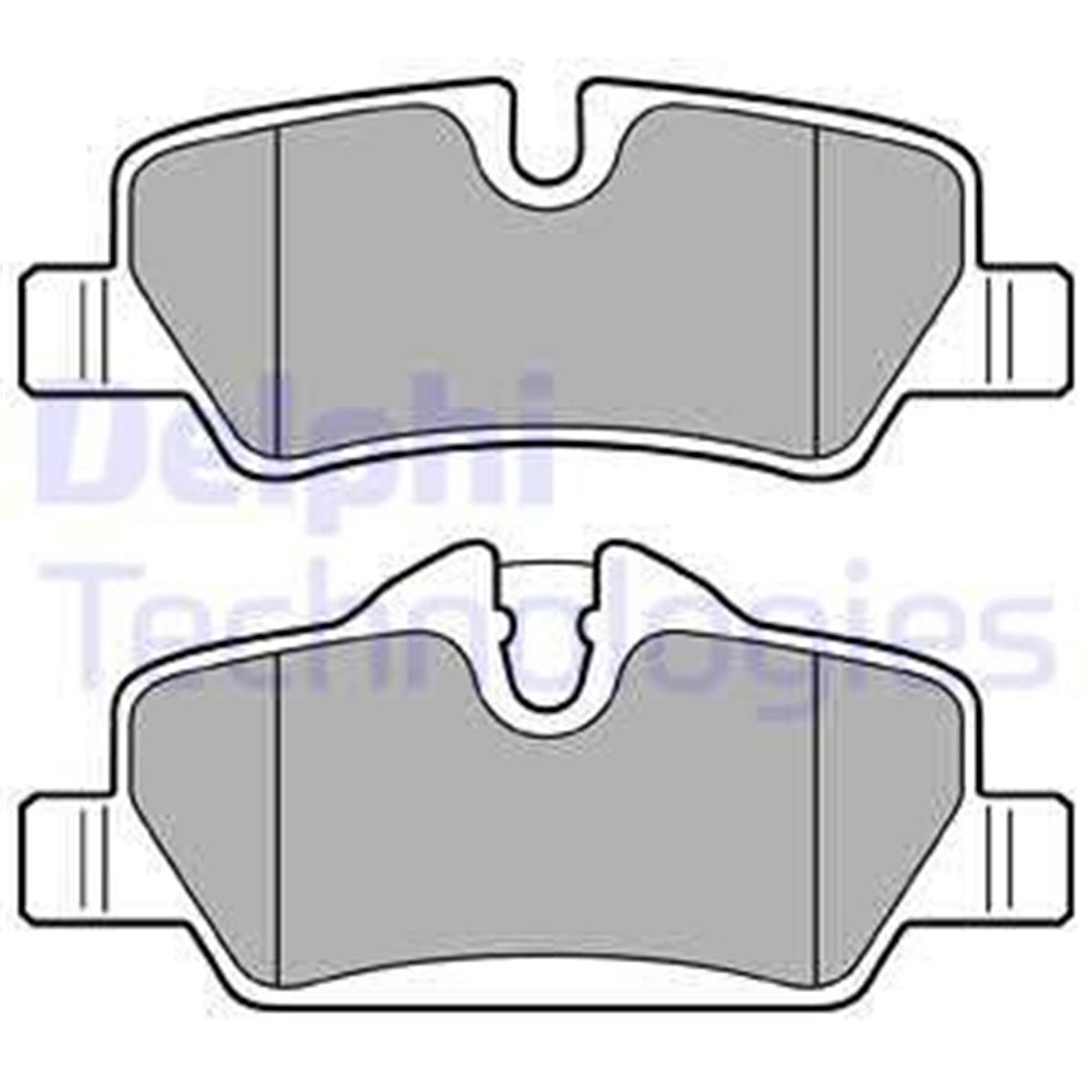 Scheibenbremse für Bremsanlage Hinterachse METZGER 1170819 Bremsbelagsatz