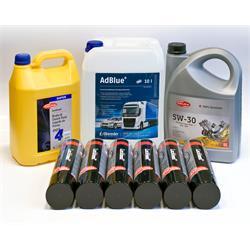 """Werkstattpaket """"2020"""" - AdBlue, Bremsflüssigkeit, Bremsenreiniger, Motoröl"""