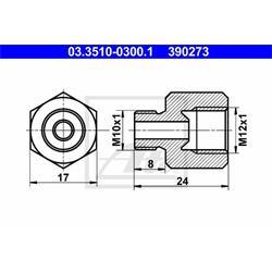 Adapter, Bremsleitung - ATE