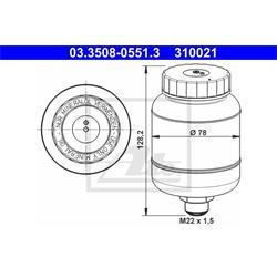 Ausgleichsbehälter, Bremsflüssigkeit - ATE