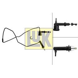 Geber-/Nehmerzylindersatz, Kupplung - LuK