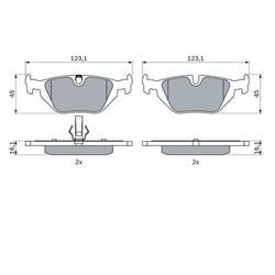 Bremsbacke - Original Bosch