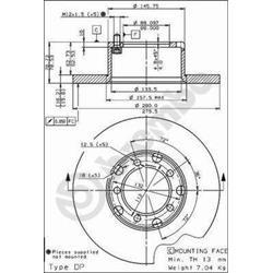 Bremsscheibe - BREMBO - Vorderachse