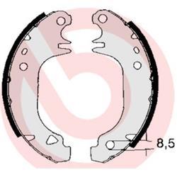Bremsbackensatz - BREMBO - Hinterachse