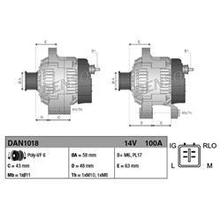 Lichtmaschine/Generator - ORIGINAL DENSO NEUTEIL