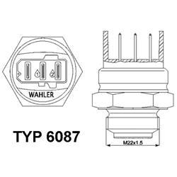 Temperaturschalter, Kühlerlüfter - WAHLER