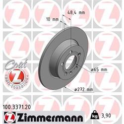 Bremsscheibe - ZIMMERMANN - Hinterachse