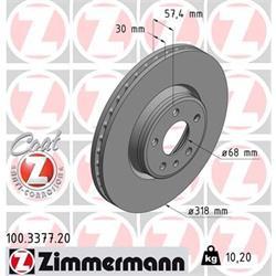 Bremsscheibe - ZIMMERMANN - Vorderachse