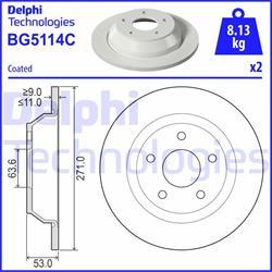 Bremsscheibe mit Radlager - ORIGINAL DELPHI - Hinterachse