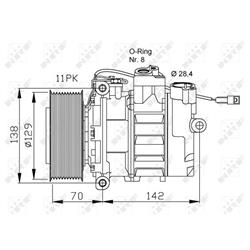 Elektromotor, Innenraumgebläse - NRF