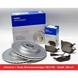 Bremsenset DELPHI für VW, Audi, Seat, Skoda - Bremsscheiben & Bremsbeläge (Vorderachse)