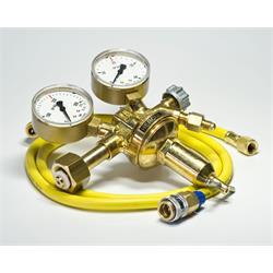 Formiergasarmatur inkl. Schlauch + Kupplung für R134a (für Flaschen mit Linksgewinde)