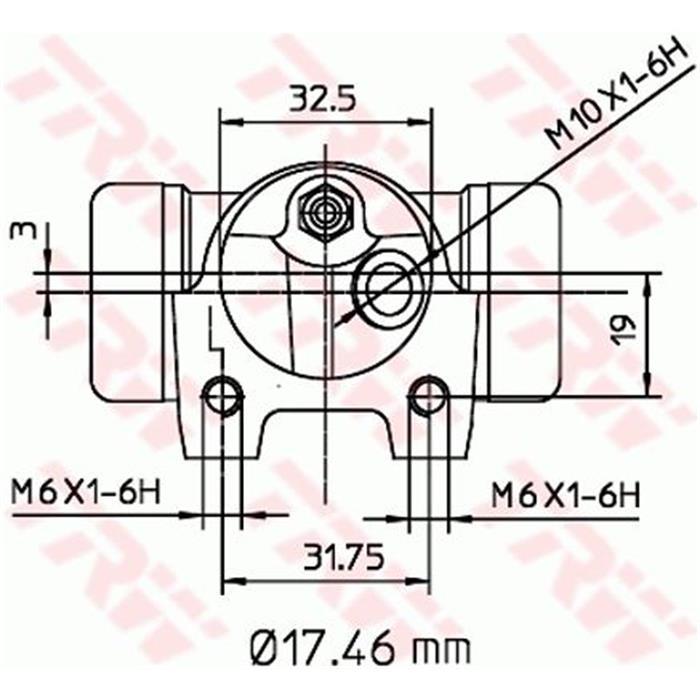 Radbremszylinder - TRW - Hinterachse - Links