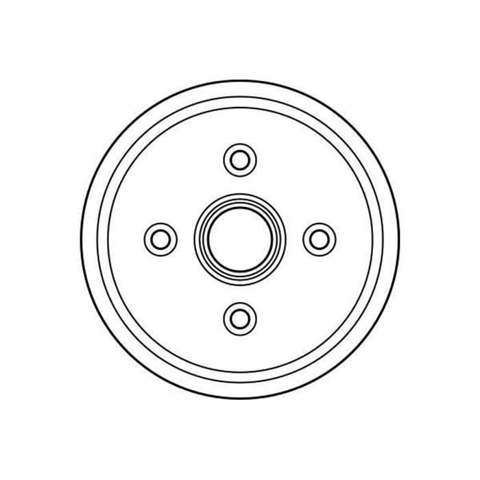 Bremstrommel - TRW - Hinterachse