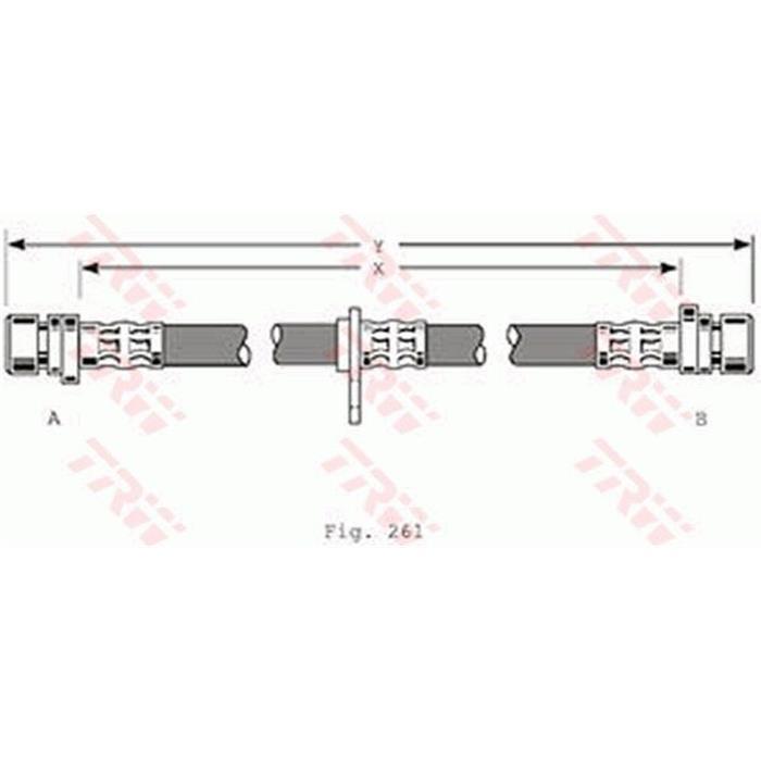 Bremsschlauch - TRW - Hinterachse - Links/Rechts