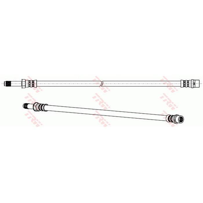 Bremsschlauch - TRW - Vorderachse & Hinterachse - Links/Rechts