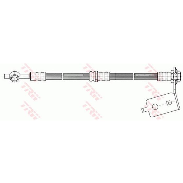 Bremsschlauch - TRW - Hinterachse - Links