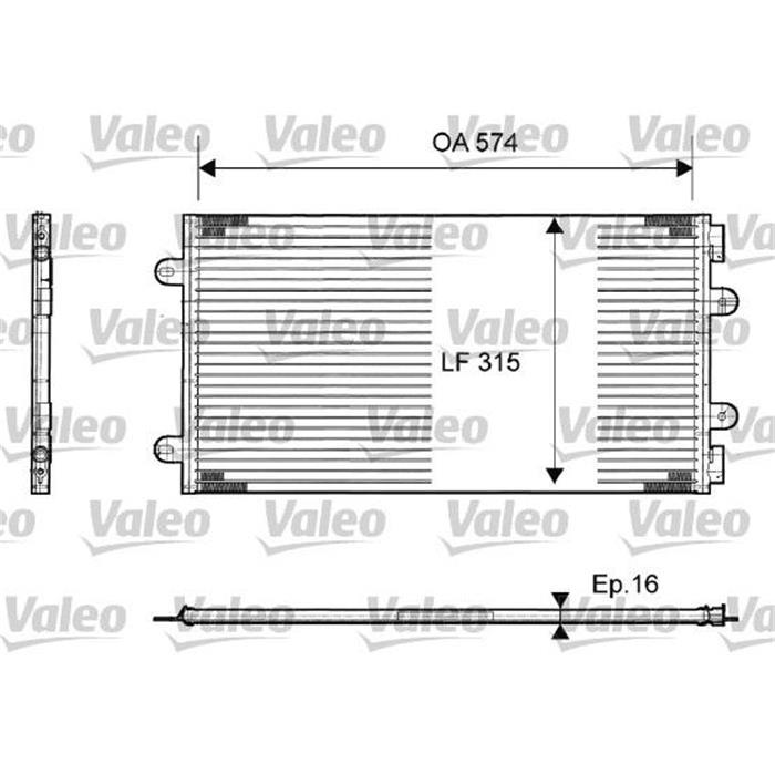 Kondensator, Klimaanlage - VALEO