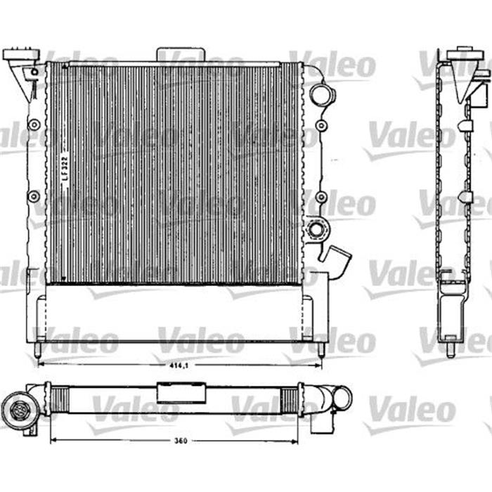 Kühler, Motorkühlung - VALEO
