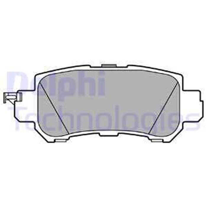 Bremsbelag/Bremsklötze - ORIGINAL DELPHI - Mazda (Hinterachse)