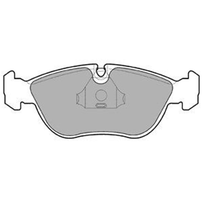 Bremsbelag/Bremsklötze - ORIGINAL DELPHI (Hinterachse)