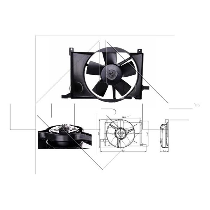 Kühler, Motorkühlung - NRF